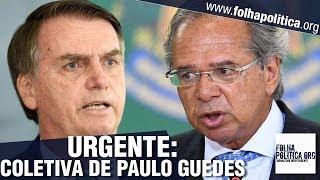URGENTE: Paulo Guedes, ministro da Economia de Bolsonaro, concede entrevista coletiva