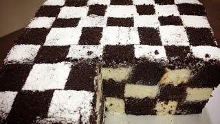 """Торт """"Шахматная доска"""" . C нежнейшим творожным кремoм ."""
