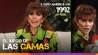 """Verónica Castro - El juego de las camas - """"Y Vero América va!"""" en Argentina - 1992"""