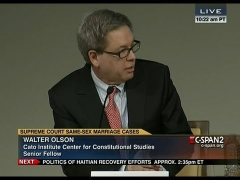 "Cato Institute event ""Law, Politics, and Same-Sex Marriage"" on C-SPAN 2"