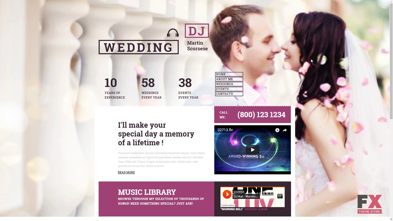 Wedding Responsive Moto Cms 3 Template Tmt Free Template Washingto