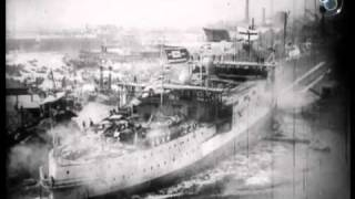 Launch of HMS Albion at Blackwall (1898)