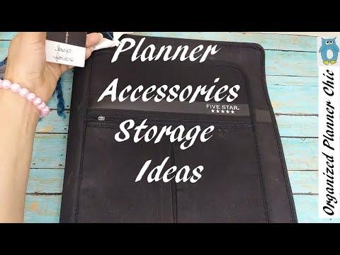 Planner Accessories Storage Ideas | Planner Supplies Organization
