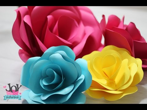 Como fazer rosa de papel paper flower youtube for Rosas de papel
