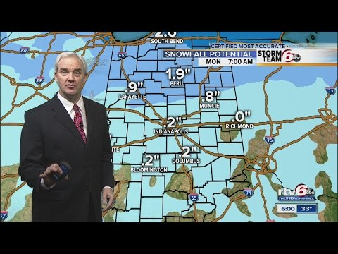 Icy road conditions Monday with minimal snowfall in Central Indiana