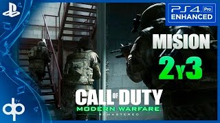 Call of Duty Modern Warfare Remastered Mision 2 y 3 Gameplay Español PS4 PRO   Campaña Parte 3