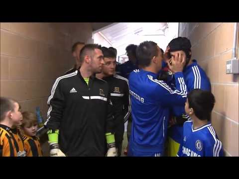 John Terry Cleaning Petr Cech Eyes
