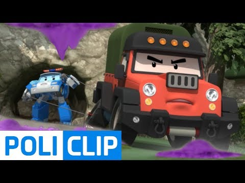 Duel in the mountains with Poacher | Robocar Poli Clips