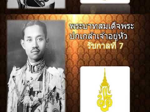 รายพระนามพระมหากษัตริย์ไทยในราชวงศ์จักรี รัชกาลที่1-10