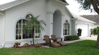 Painting A Merritt Island Homes Exterior Stucco Walls And Doors - Before And After Video