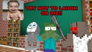 Monster School: TRY NOT TO LAUGH OR DIE CHALLENGE-MINECRAFT ANIMATION