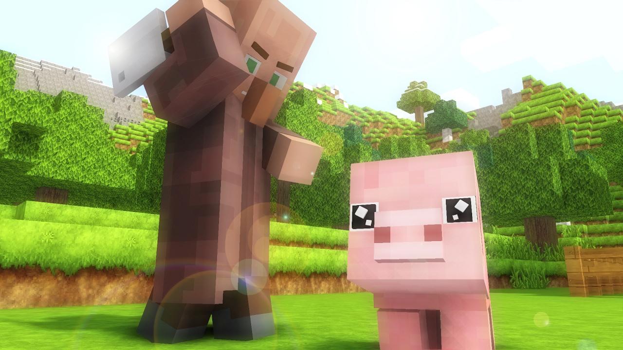 Download Village Life  - Minecraft animation