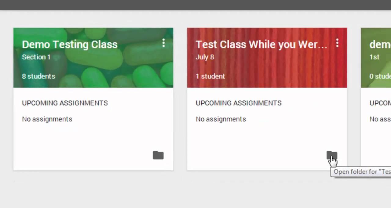 Google Classroom - Creating a Class - YouTube