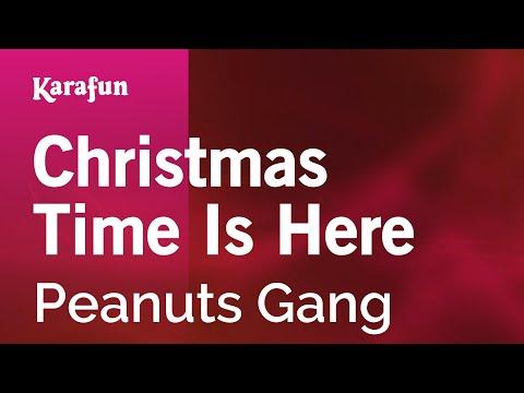 Karaoke Christmas Time Is Here - Peanuts Gang *