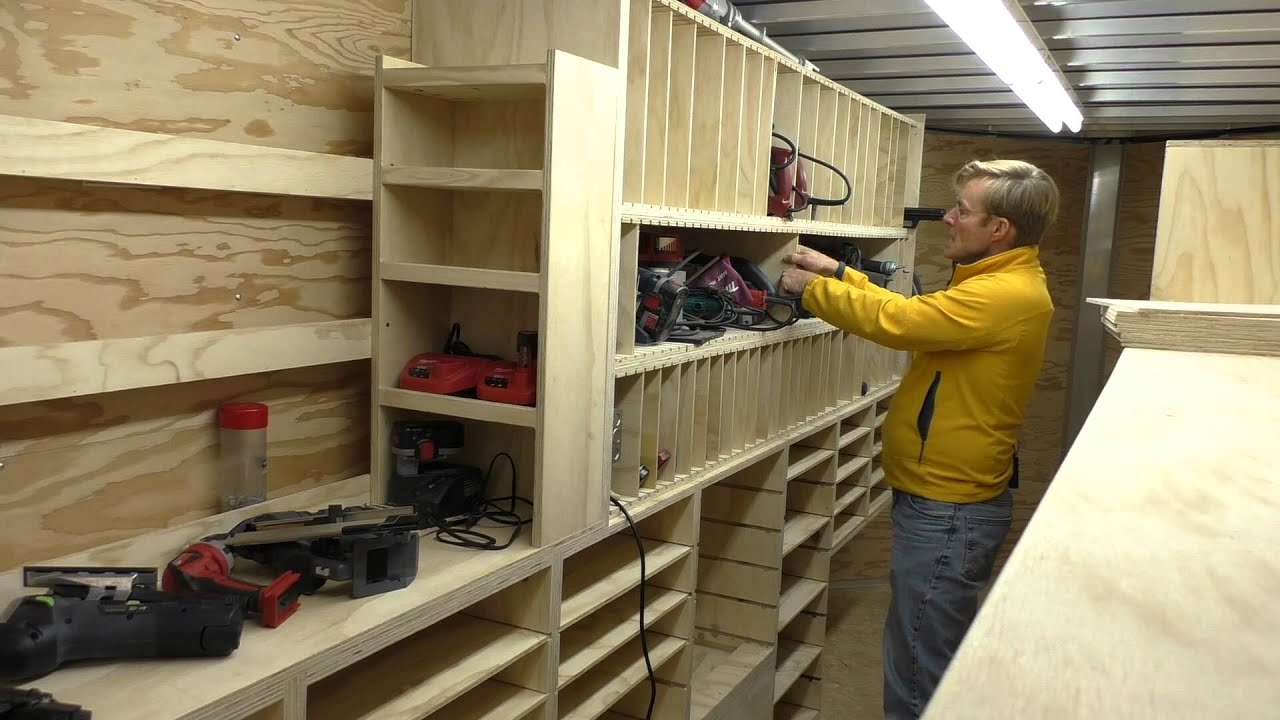 Building A Mobile Woodshop Part 24 Cubbies That Hold A