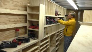 Building A Mobile Woodshop (part 24) Cubbies That Hold A Lot Of Tools.