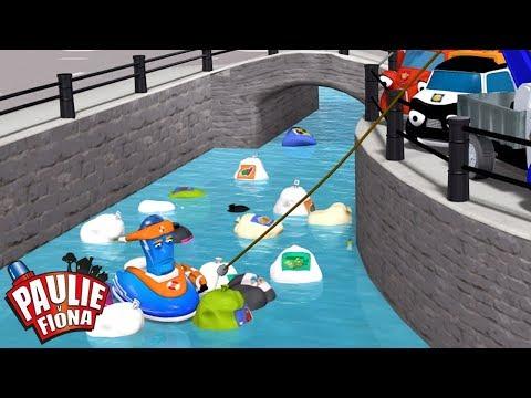 Paulie y Fiona | La fiesta de la basura | Caricaturas para Niños | Caricaturas en Español
