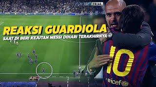 """""""Hampir Buat Menangis"""" Lihatlah Bagaimana Messi Memberikan Kado Indah Di Hari Perpisahan Guardiola"""