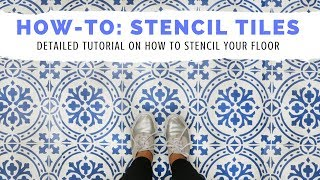 How-To Tile Your Floor Using a Stencil by Cutting Edge Stencils