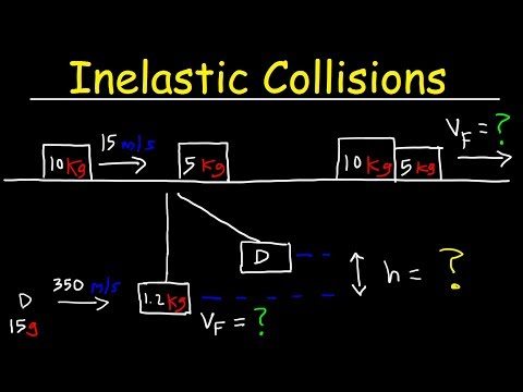 Inelastic Collision Physics Problems In One Dimension - Conservation of  Momentum