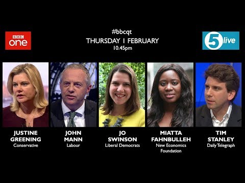 Question Time 1/2/18: end of May, Brexit war, false rape acc
