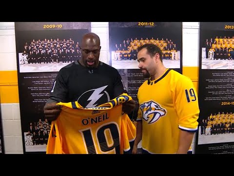 Rusev and enforcers get Titus O'Neil to don Predators jersey