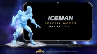 Iceman freezes his opponents to their core!