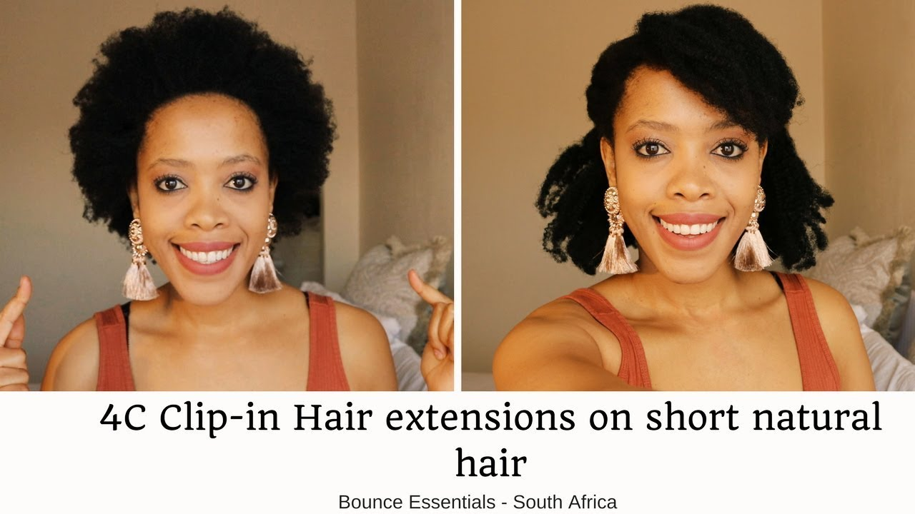 How To Install Afro Clip In Extensions On Short 4c Natural Hair