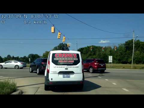 Driving from Shelby Township, Michigan to Bingham Farms, Michigan