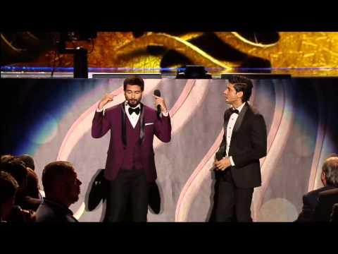 Shahid Kapoor & Farhan Akhtar play Dumb Charades at IIFA 2014