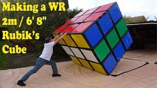 """How it's made: 2.03m / 6' 8"""" Rubik's Cube (construction of world record 3x3x3 puzzle)"""