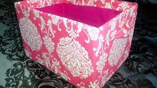 Diy Cube Shelves Cardboard Fabric Storage Bins | Storage Box