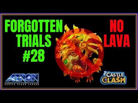 FORGOTTEN TRIALS 28  - NO LAVA - NEW UPDATE - CASTLE CLASH