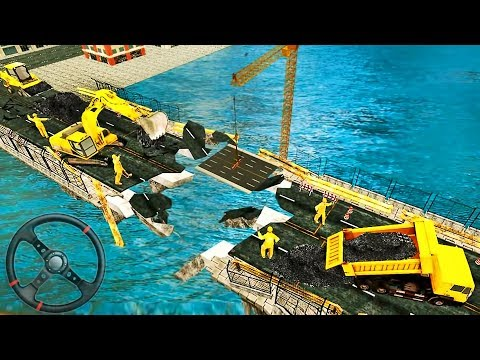 Heavy Duty Offroad River Bridge - 3D Construction Simulator - Android GamePlay