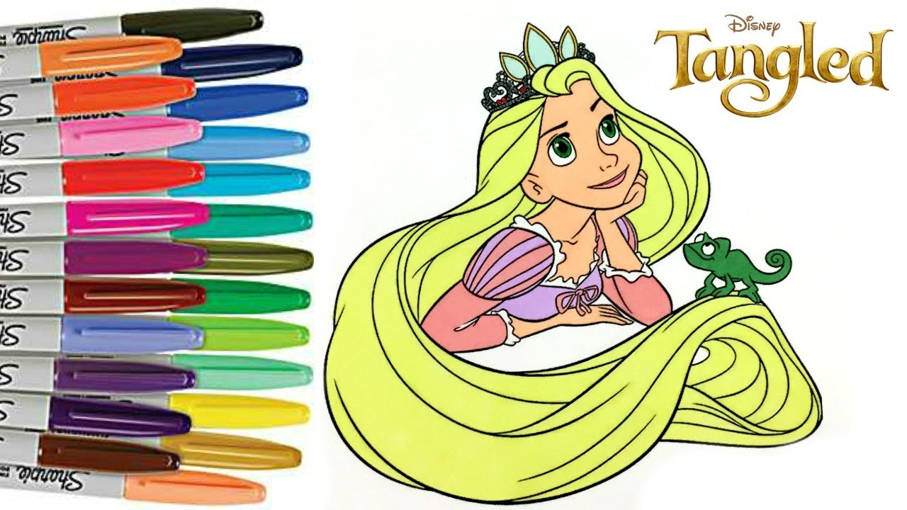 Disney\'s Tangled Coloring Book Rapunzel Colouring Disney Princess ...