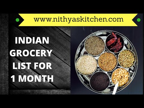 Indian Store Grocery List For One Month   Www Nithyaskitchen Com - YT