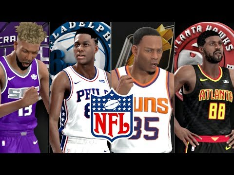 What NFL Player Would Be The First Drafted In A NBA Draft? NBA 2K18 Challenge