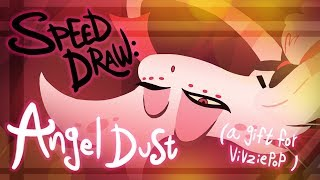 Speed Draw: Angel Dust/ A gift for Vivziepop