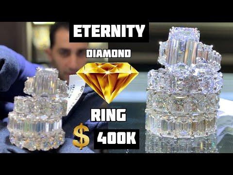 HOW Many KARATS For This INSANE $400K Eternity DIAMOND Ring?