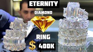 HOW many KARATS for this INSANE $400K Eternity DIAMOND Ring? YouTube Videos