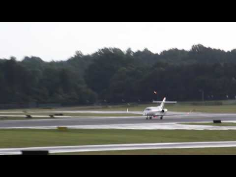 Hawker 800 Take Off at Hickory Regional  (6-13-17)