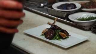 Blackberry-balsamic Glazed Lamb Rib Chops Pop Appetizer