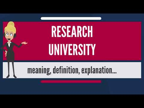What is RESEARCH UNIVERSITY? What does RESEARCH UNIVERSITY mean? RESEARCH UNIVERSITY meaning