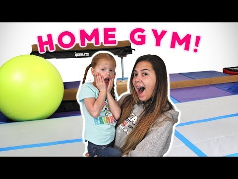 Surprising Maggie's Little Sister With An AT HOME GYM
