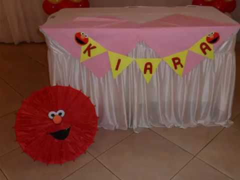 VIDEO 10 Elmo Sesame Street First Birthday Parties Balloon Decorations