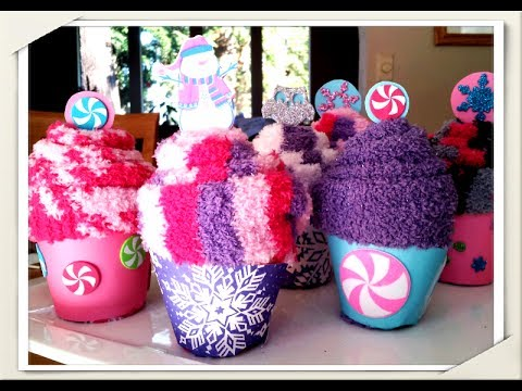 how to make cute cupcake sock party favors easy quick tutorial