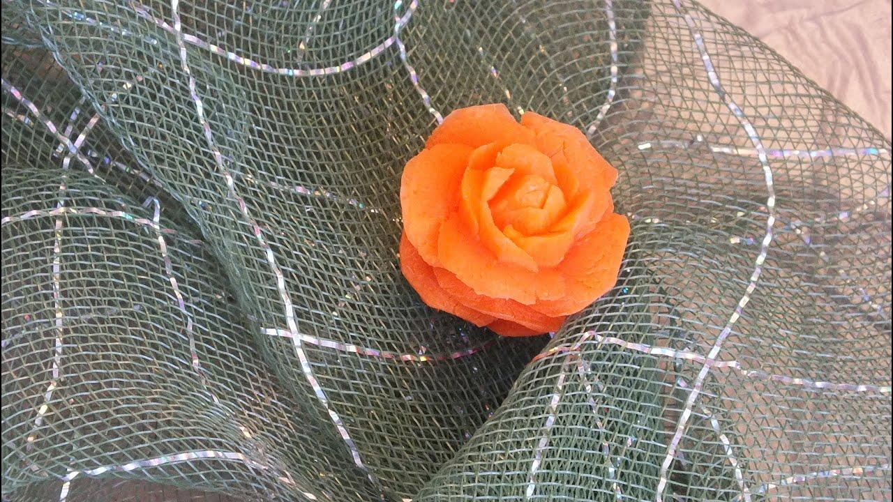 Как сделать бабочку из моркови 4