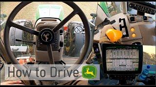 How to drive: J๐hn Deere 6R, 7R, 8R, 9R | Erklärung Bedienung | PowerShift & Bordcomputer | Part 1