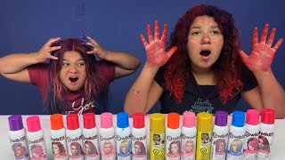 3 COLORS OF HAIR DYE CHALLENGE!!!