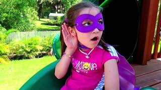 Child Superhero helps Daddy Wash a Ride On Car Toy!